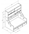 схема ДЕЛЬТА-21.12 кровать с антресолью