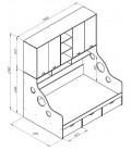 схема ДЕЛЬТА-21.11 кровать с антресолью