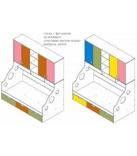 пример мультицвет ДЕЛЬТА-21.11 кровать с антресолью
