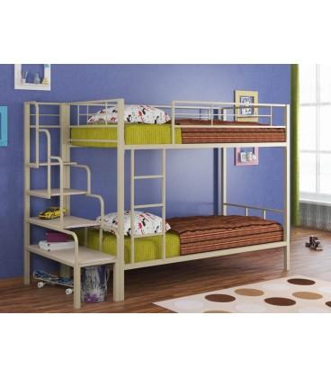 кровать Севилья-2 + лестница тумба + матрас Bliss-макс-кокос-90-190-16 (2шт.)