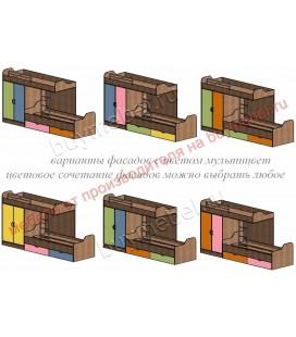 кровать двухъярусная ДЕЛЬТА-18.04.01 фасады мультцвет
