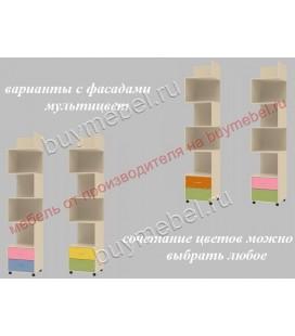 ДЕЛЬТА-5.01 пенал-стеллаж фасады мультицвет