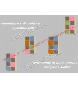 фасады мультицвет ДЕЛЬТА-7.03 тумба комбинированная