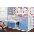buymebel.ru кровать Дюймовочка-6 фасад голубой (Формула мебели)