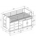 buymebel.ru кровать Дюймовочка-6 схема с размерами