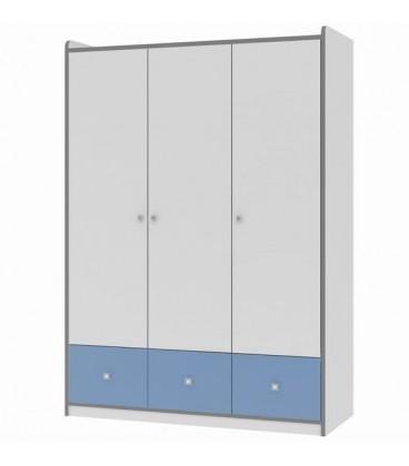 buymebel.ru Дельта 9.1 Сильвер шкаф 3-х дверный (Формула мебели)