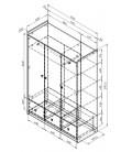 buymebel.ru схема Дельта 9.1 Сильвер шкаф 3-х дверный (Формула мебели)