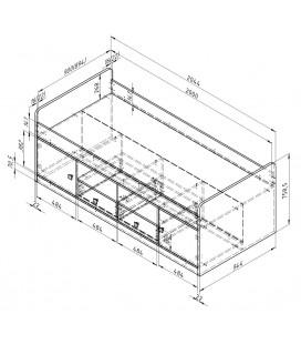 схема Дельта 19.1 Сильвер кровать односпальная (Формула мебели)