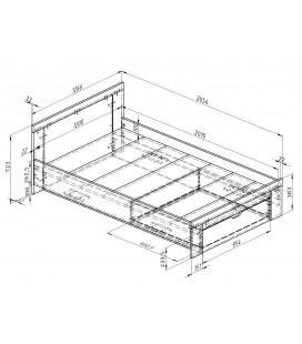 схема Дельта 19.2 Сильвер кровать полуторка (Формула мебели)