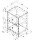 схема Дельта-24.3 Сильвер тумба с двумя ящиками (Формула мебели)