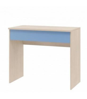 buymebel.ru фото ДЕЛЬТА-15/2 стол письменный с ящиком корпус дуб молочный, фасад голубой