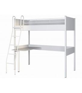 Дельта-Лофт-20.02.01 кровать чердак цвет белый