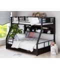buymebel.ru двухъярусная кровать Гранада-1 ПЯ цвет чёрный - венге
