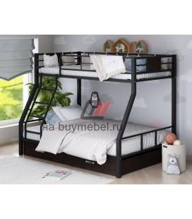 двухъярусная кровать Гранада-1Я цвет чёрный - венге