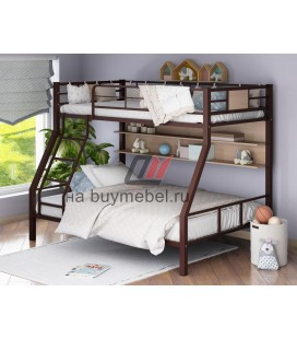 кровать Гранада-1П цвет коричневый - дуб молочный