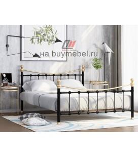 кровать двухспальная Эльда цвет чёрный / золото