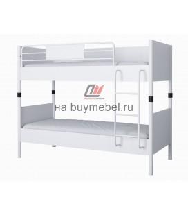 Дельта-Лофт-20.02.02 двухъярусная кровать белая