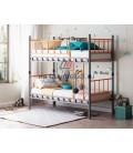 buymebel.ru Дельта-Лофт-20.02.03 двухъярусная кровать цвет серый / оранжевый