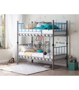Дельта-Лофт-20.02.03 двухъярусная кровать цвет серый / голубой