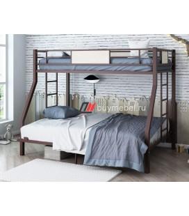 кровать Гранада 1400 коричневый / светлый шимо