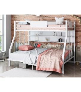 кровать с полкой Гранада-П 140 белая
