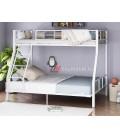 buymebel.ru 2-х ярусная кровать Гранада-1 140 цвет белый / дуб Айленд