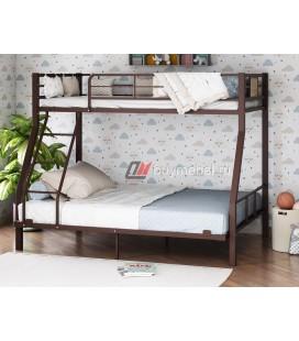 2-х ярусная кровать Гранада-1 140 цвет коричневый / дуб Айленд