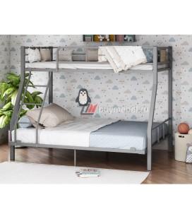 2-х ярусная кровать Гранада-1 140 цвет серый / дуб Айленд