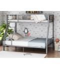 buymebel.ru 2-х ярусная кровать Гранада-1 140 цвет серый / дуб Айленд