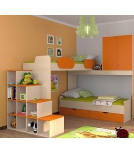 двухъярусная кровать Дельта 18-05 + 18-01 + 18-06