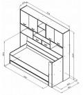 ДЕЛЬТА-21.03 кровать с антресолью схема с размерами