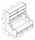 ДЕЛЬТА-21.02 кровать с антресолью полуторка схема с размерами