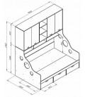ДЕЛЬТА-21.01 кровать с антресолью полуторка схема с размерами