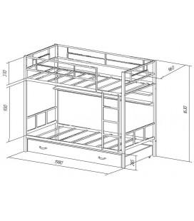 двухъярусная кровать Севилья-2 ПЯ схема