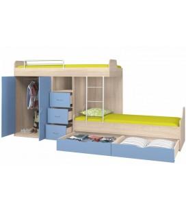 кровать двухъярусная ДЕЛЬТА-18.04.02 с открытыми фасадами