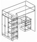 кровать-чердак Теремок-3 наполнение