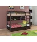 двухъярусная кровать Севилья-3 ПЯ коричневый - венге