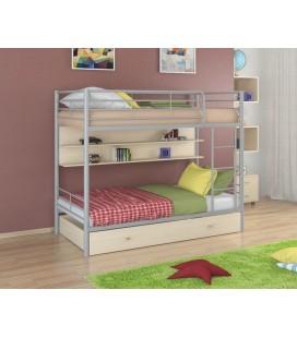 двухъярусная кровать Севилья-3 ПЯ серый - дуб молочный