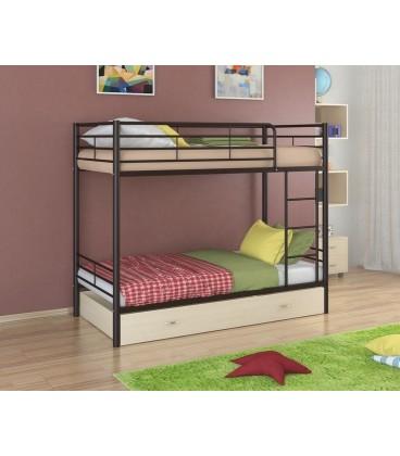 двухъярусная кровать Севилья-3 Я коричневый - дуб молочный