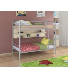 двухъярусная кровать Севилья-3 П серый - дуб молочный