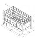 buymebel.ru кровать-чердак Севилья-Я-мини схема с размерами