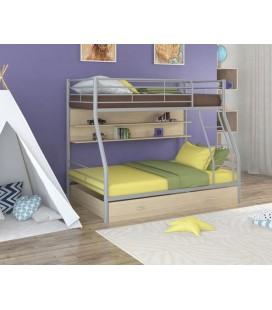 двухъярусная кровать Гранада-2 ПЯ серый - дуб молочный