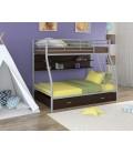 двухъярусная кровать Гранада-2 ПЯ серый - венге
