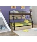 двухъярусная кровать Гранада-2 ПЯ чёрный - дуб молочный