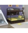 двухъярусная кровать Гранада-2 ПЯ чёрный - венге