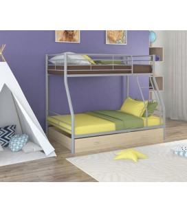 двухъярусная кровать Гранада-2 Я серый - дуб молочный