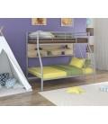 buymebel.ru двухъярусная кровать Гранада-2 П серый - дуб молочный