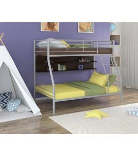 двухъярусная кровать Гранада-2 П серый - венге