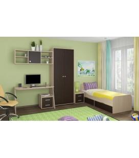 детская комната Дельта №10 корпус дуб молочный, фасад венге