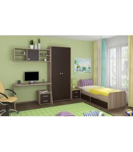 детская комната Дельта №10 корпус дуб сонома, фасад венге